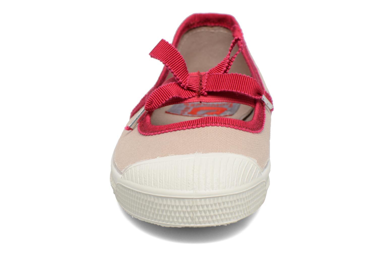 Ballerines Bensimon Tennis Babies Gros Grain E Beige vue portées chaussures