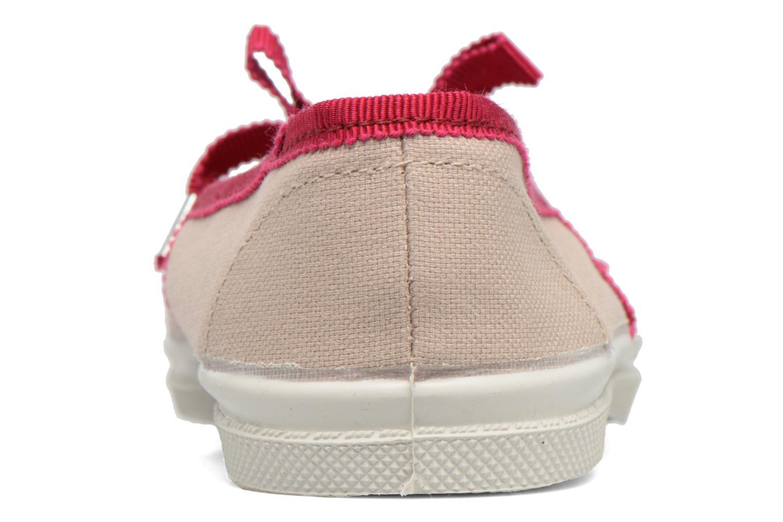Ballerines Bensimon Tennis Babies Gros Grain E Beige vue droite