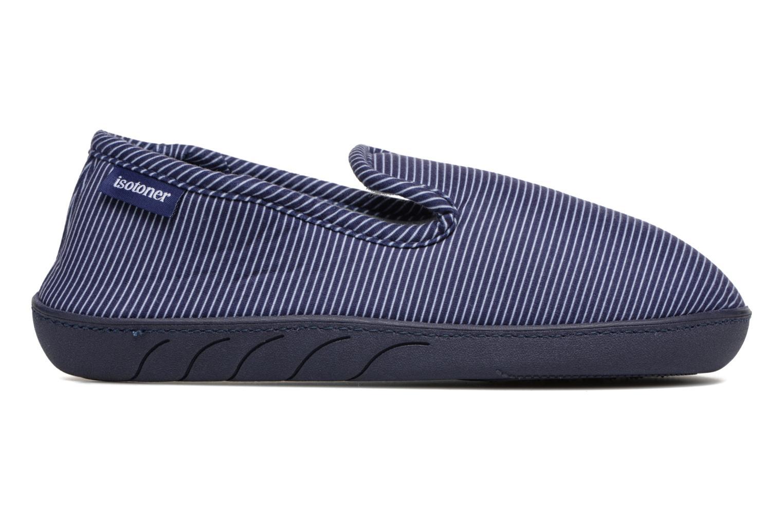 Chaussons Isotoner Charentaise Ergonomique Suédine Bleu vue derrière