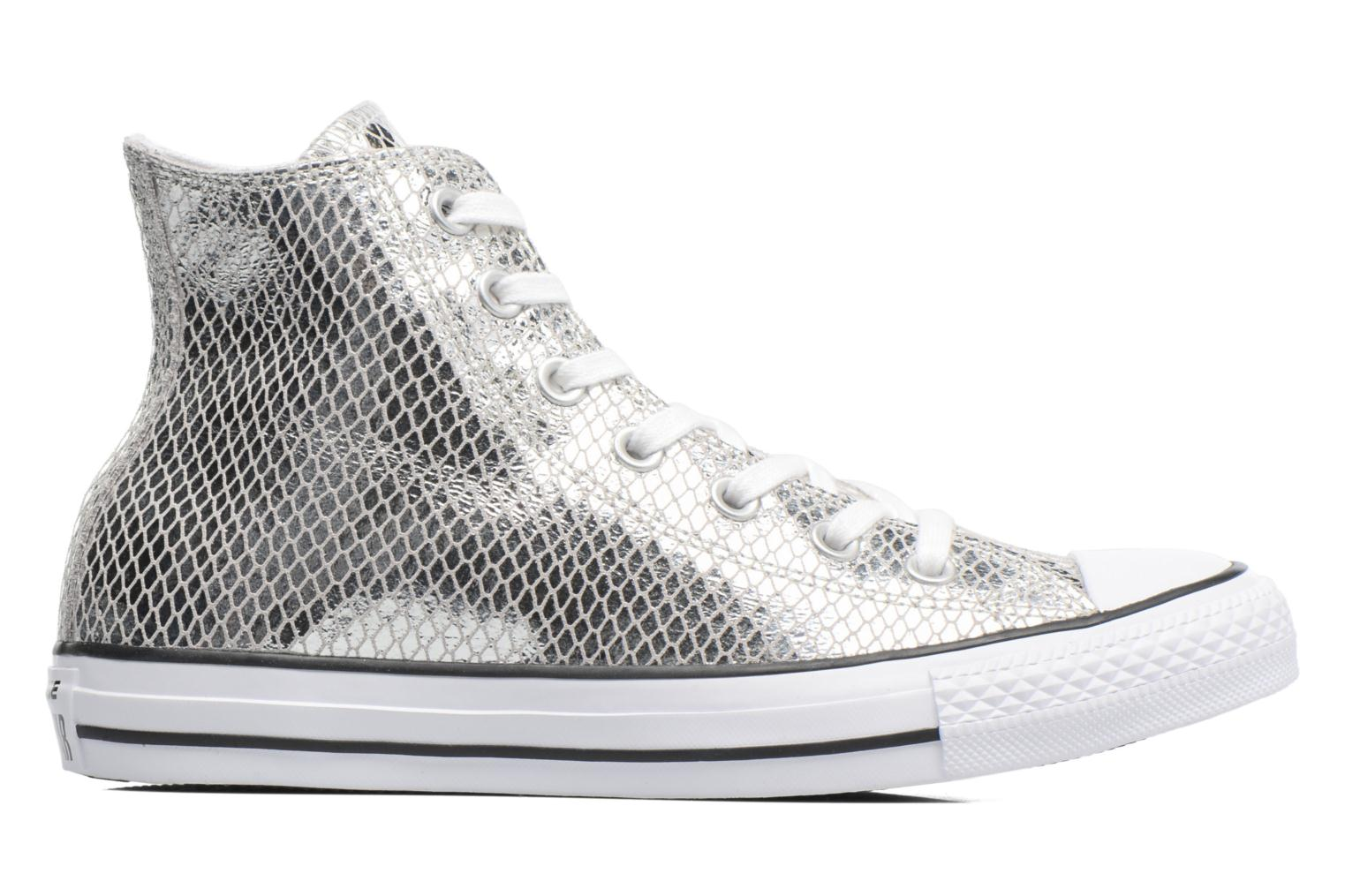 Baskets Converse Chuck Taylor All Star Hi Metallic Snake Leather Argent vue derrière