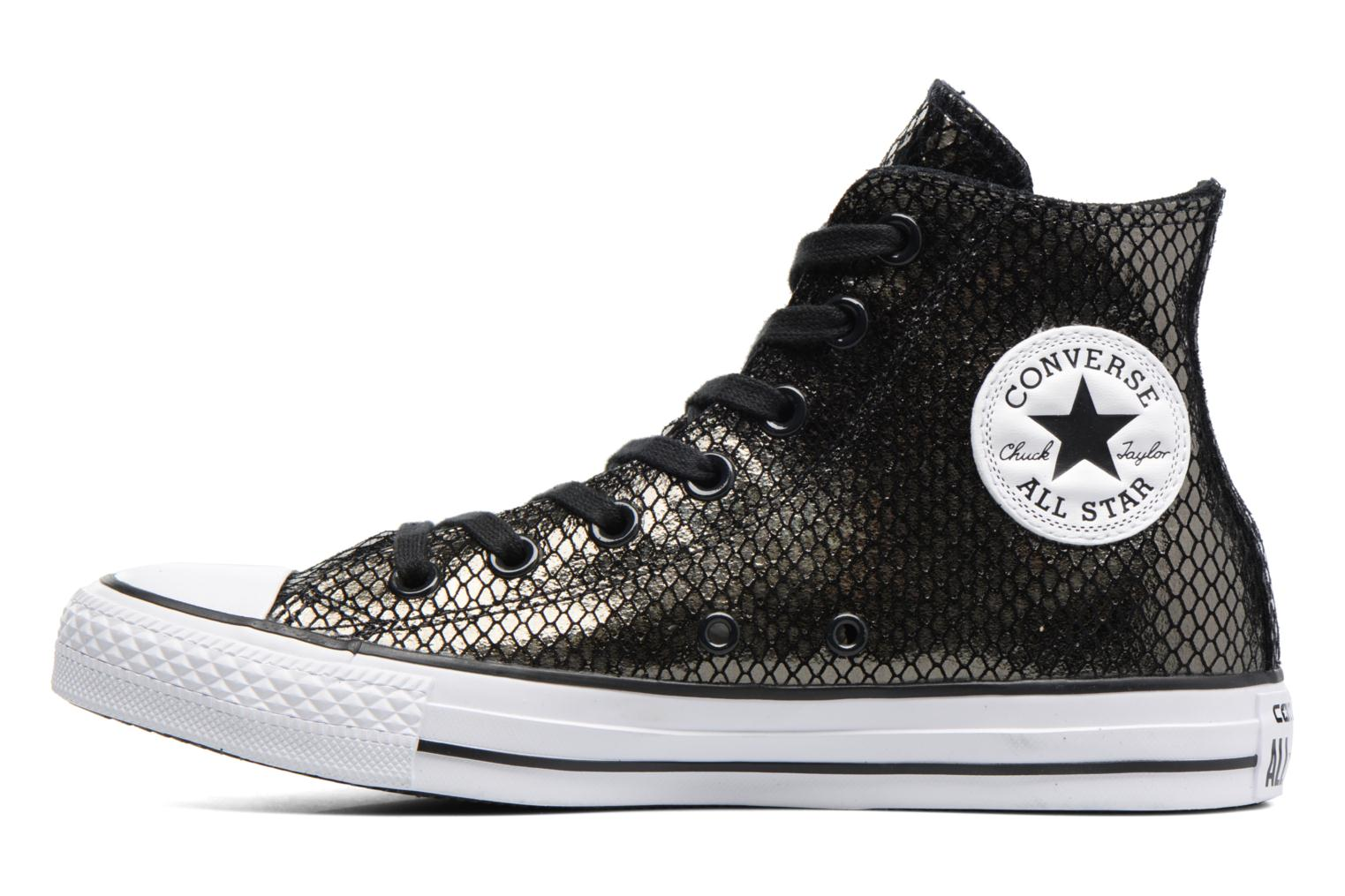 Sneakers Converse Chuck Taylor All Star Hi Metallic Snake Leather Nero immagine frontale
