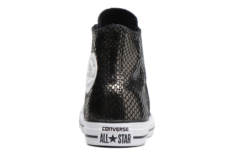 Sneakers Converse Chuck Taylor All Star Hi Metallic Snake Leather Nero immagine destra
