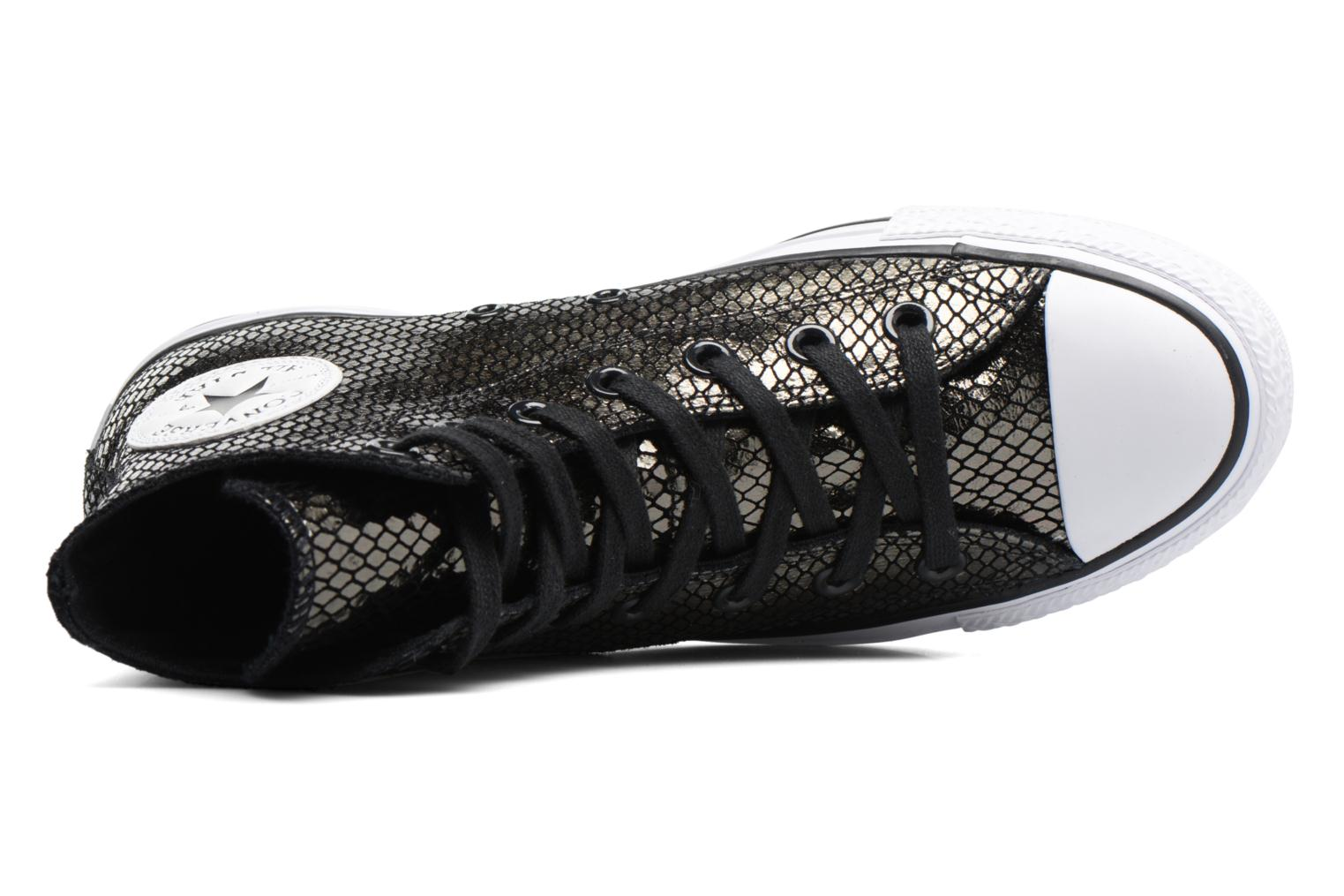 Sneakers Converse Chuck Taylor All Star Hi Metallic Snake Leather Nero immagine sinistra