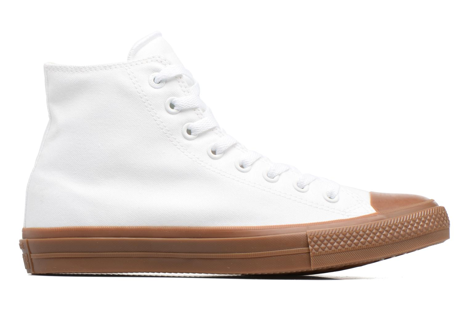 White/White/Gum Converse Chuck Taylor All Star II Hi Tencel Canvas (Blanc)