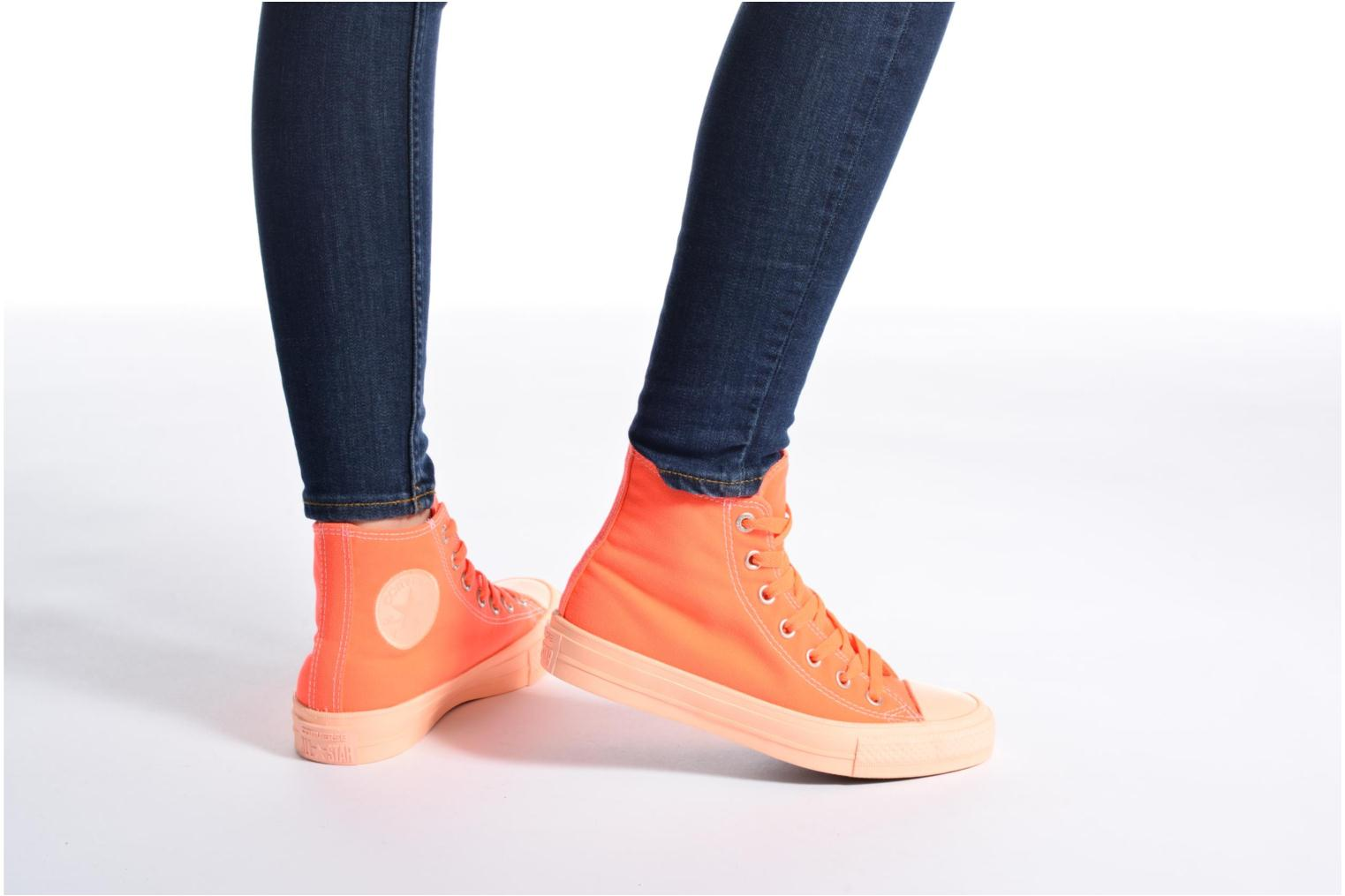 Hyper Orange/Sunset Glow/Sunset Glow Converse Chuck Taylor All Star II Hi Pastel Midsoles W (Orange)