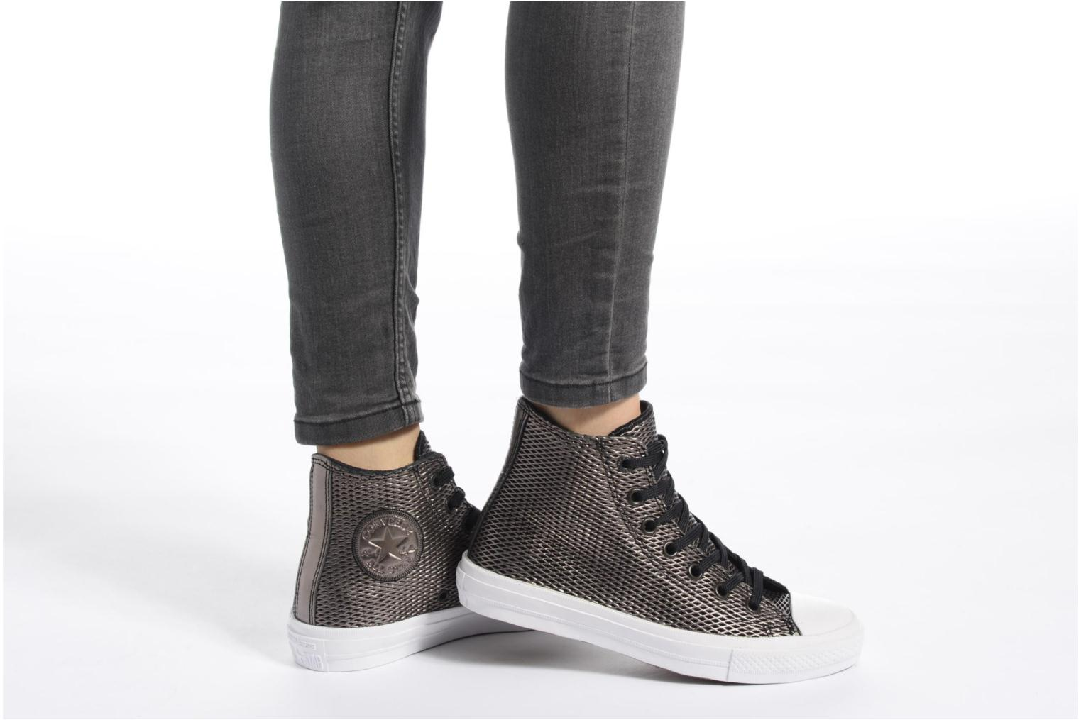 Chuck Taylor All Star II Hi Perf Metallic Leather Black/black/white