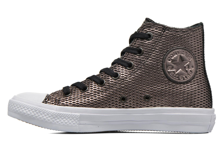 Baskets Converse Chuck Taylor All Star II Hi Perf Metallic Leather Noir vue face