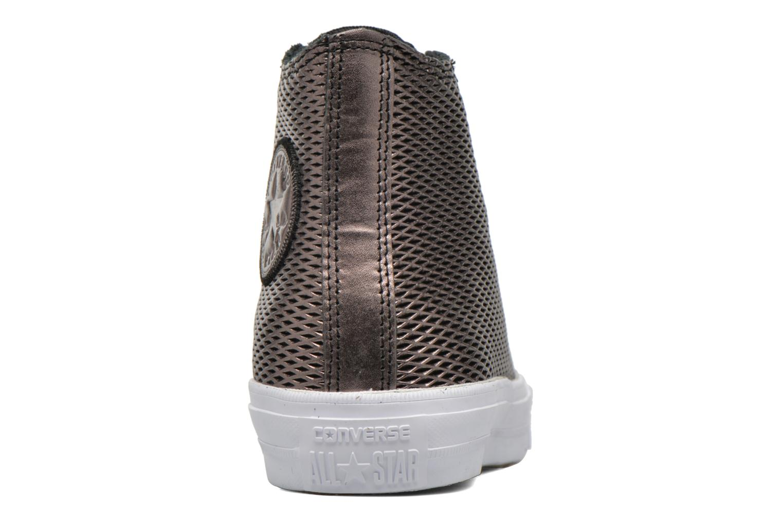 Baskets Converse Chuck Taylor All Star II Hi Perf Metallic Leather Noir vue droite
