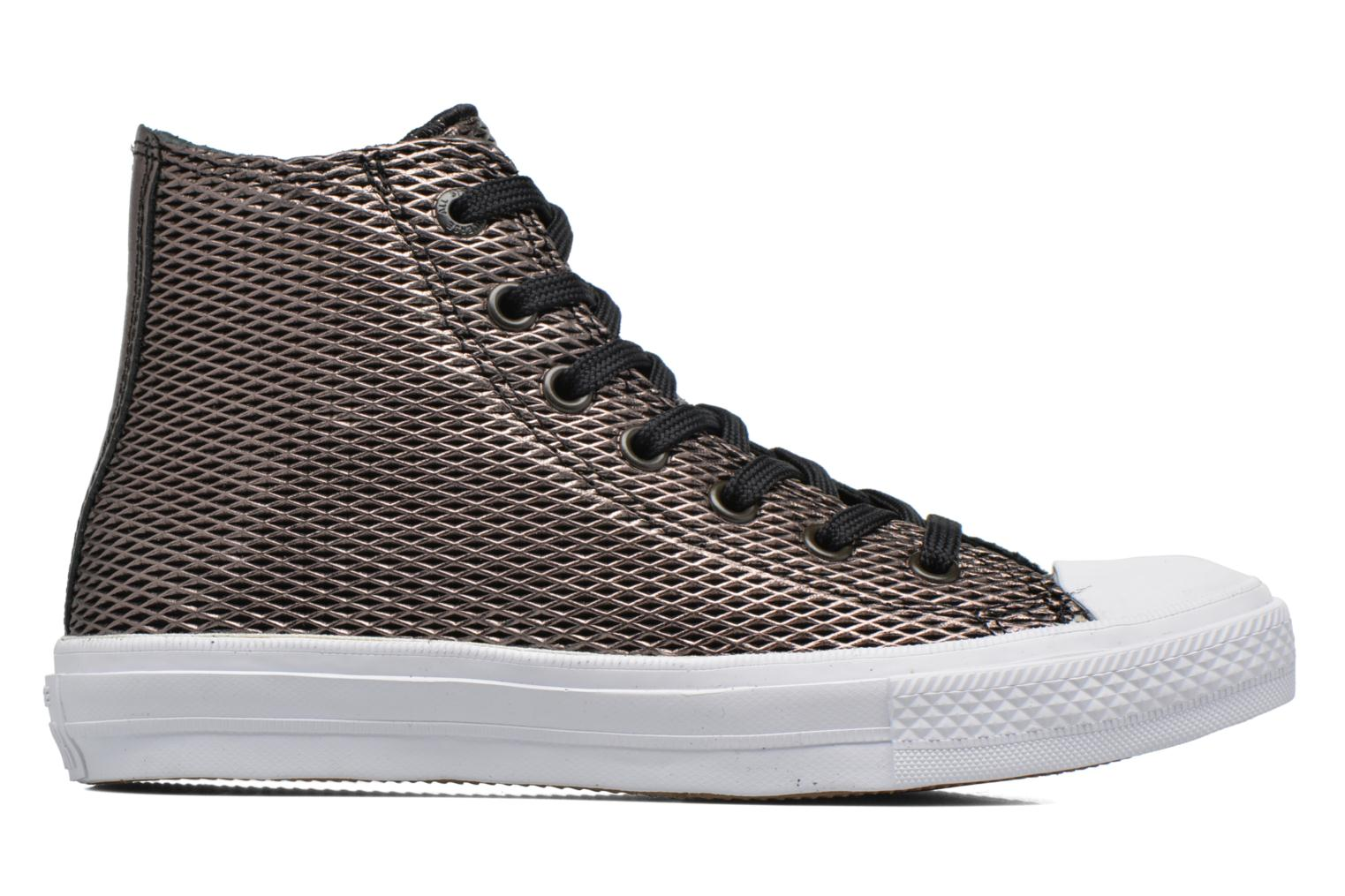Gold/White/White Converse Chuck Taylor All Star II Hi Perf Metallic Leather (Or et bronze)