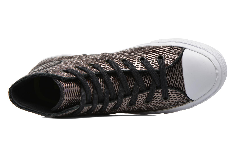 Baskets Converse Chuck Taylor All Star II Hi Perf Metallic Leather Noir vue gauche