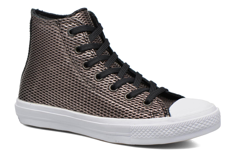 Baskets Converse Chuck Taylor All Star II Hi Perf Metallic Leather Noir vue détail/paire