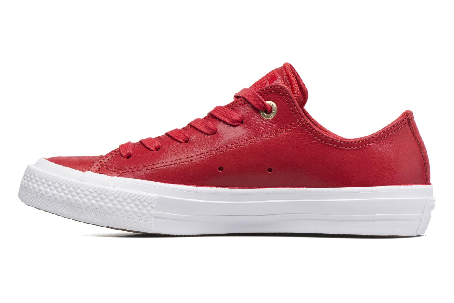 Baskets Converse Chuck Taylor All Star II Ox Craft Leather Rouge vue face