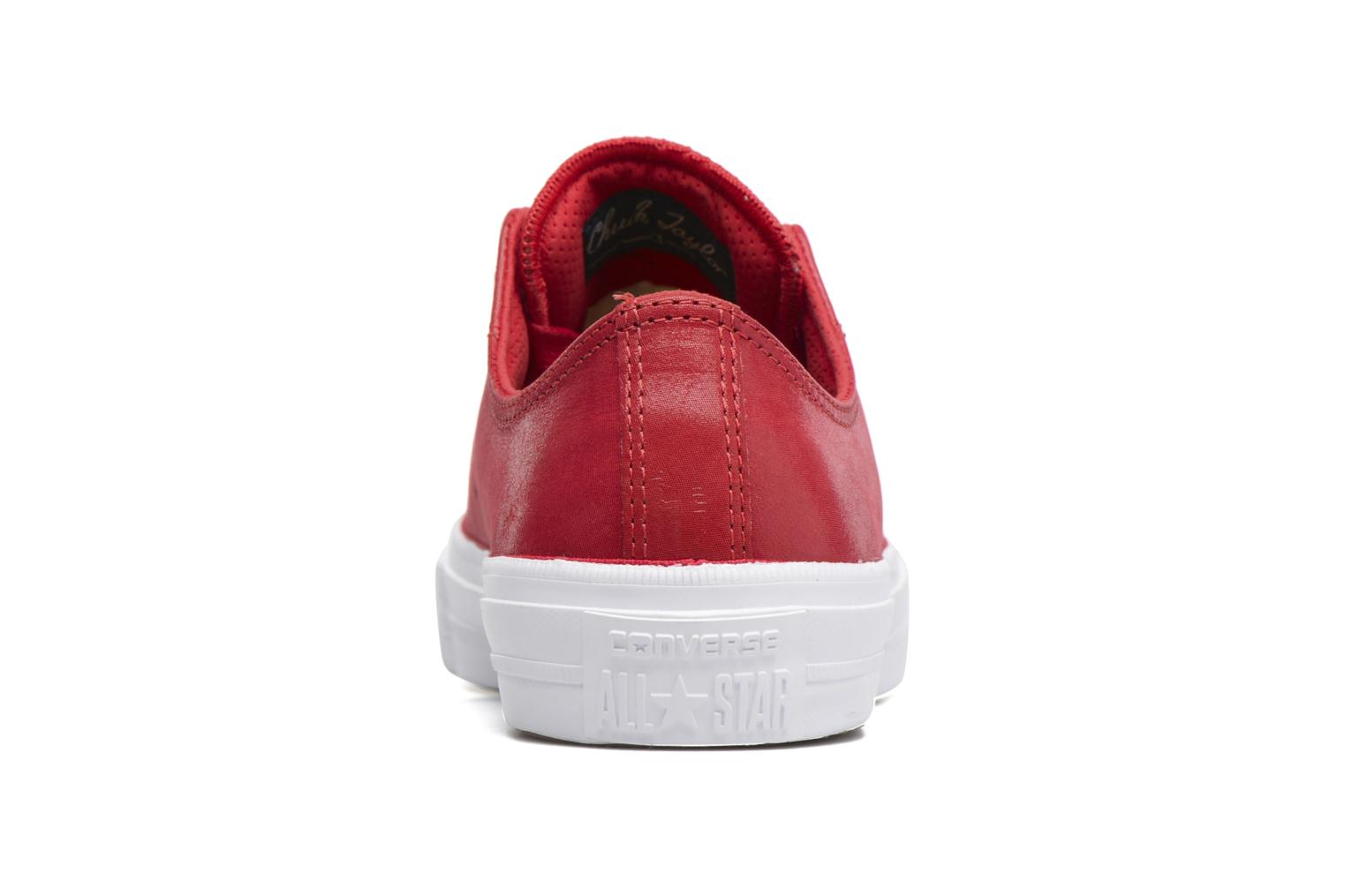 Deportivas Converse Chuck Taylor All Star II Ox Craft Leather Rojo vista lateral derecha
