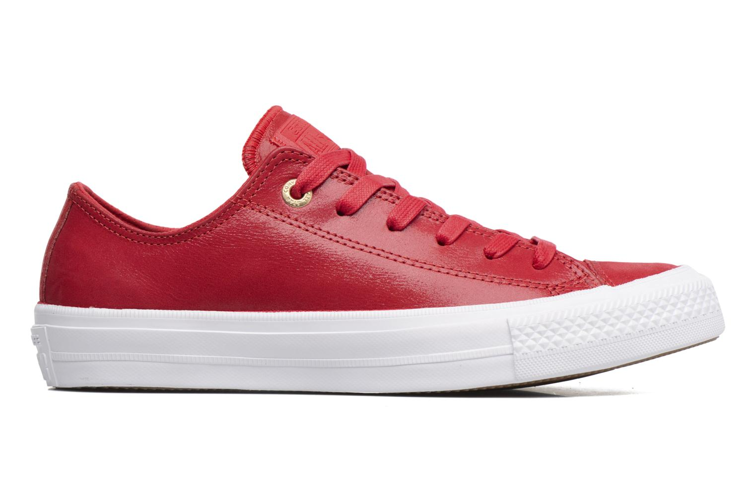 Baskets Converse Chuck Taylor All Star II Ox Craft Leather Rouge vue derrière