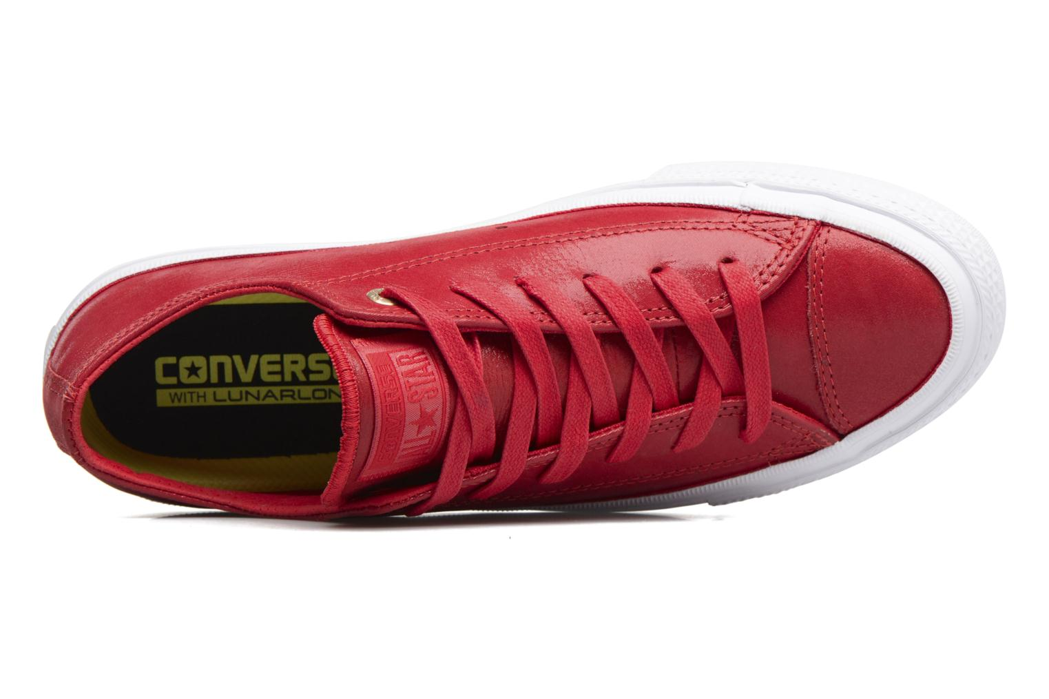 Baskets Converse Chuck Taylor All Star II Ox Craft Leather Rouge vue gauche