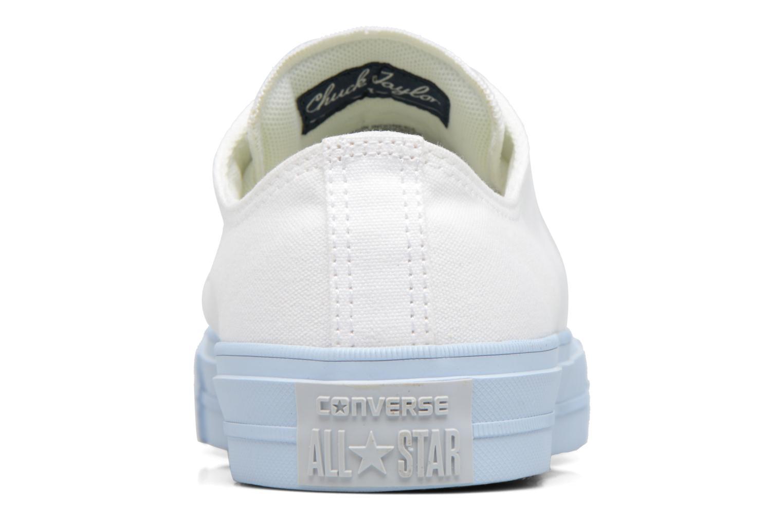 White/Porpoise/Porpoise Converse Chuck Taylor All Star II Ox Pastel Midsoles W (Blanc)