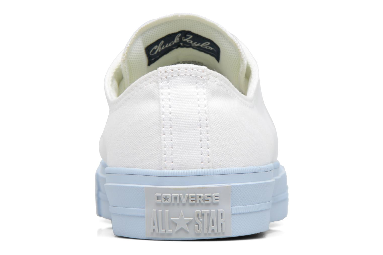 Baskets Converse Chuck Taylor All Star II Ox Pastel Midsoles W Blanc vue droite