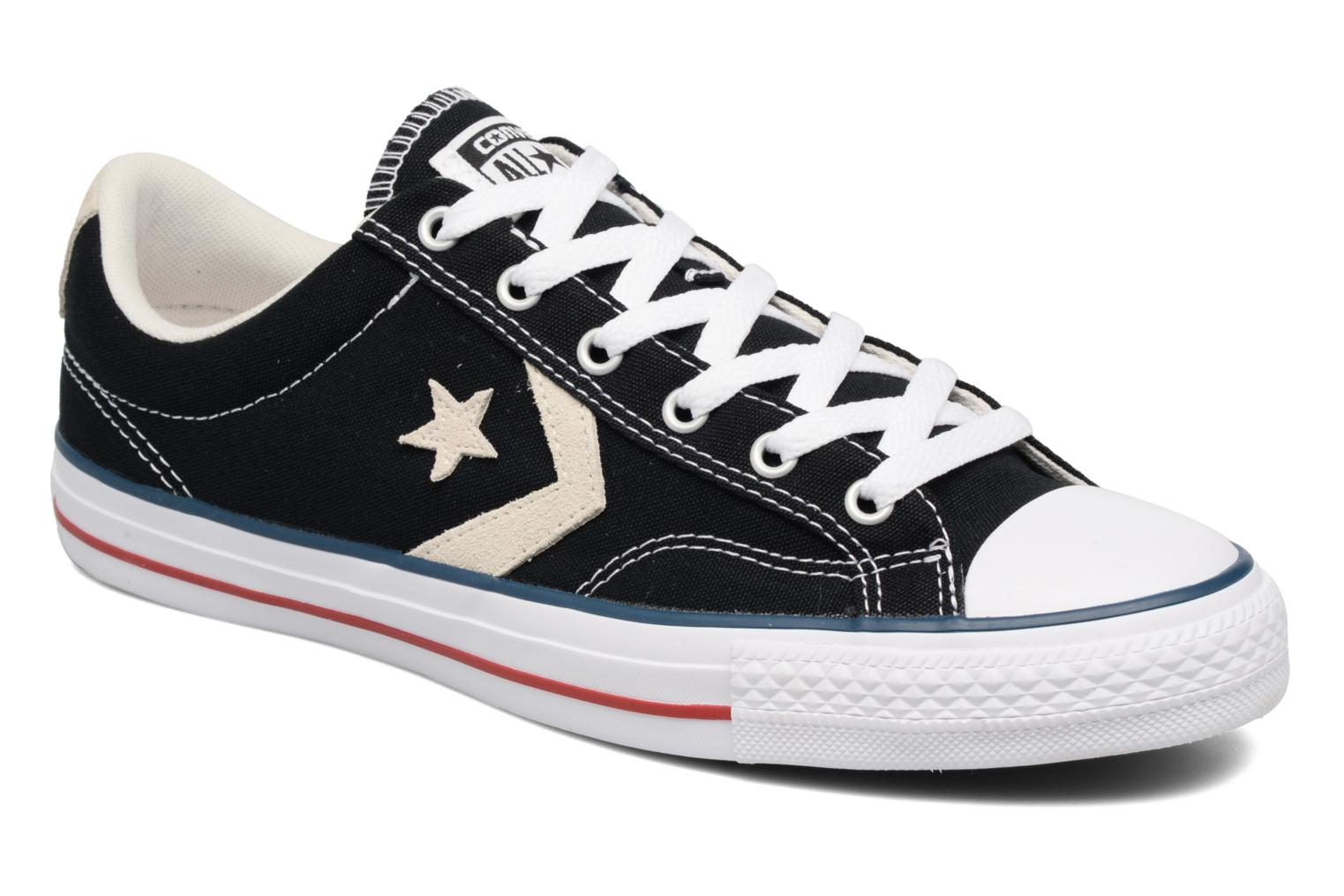 Baskets Converse Star Player Ox Evergreen Noir vue détail/paire