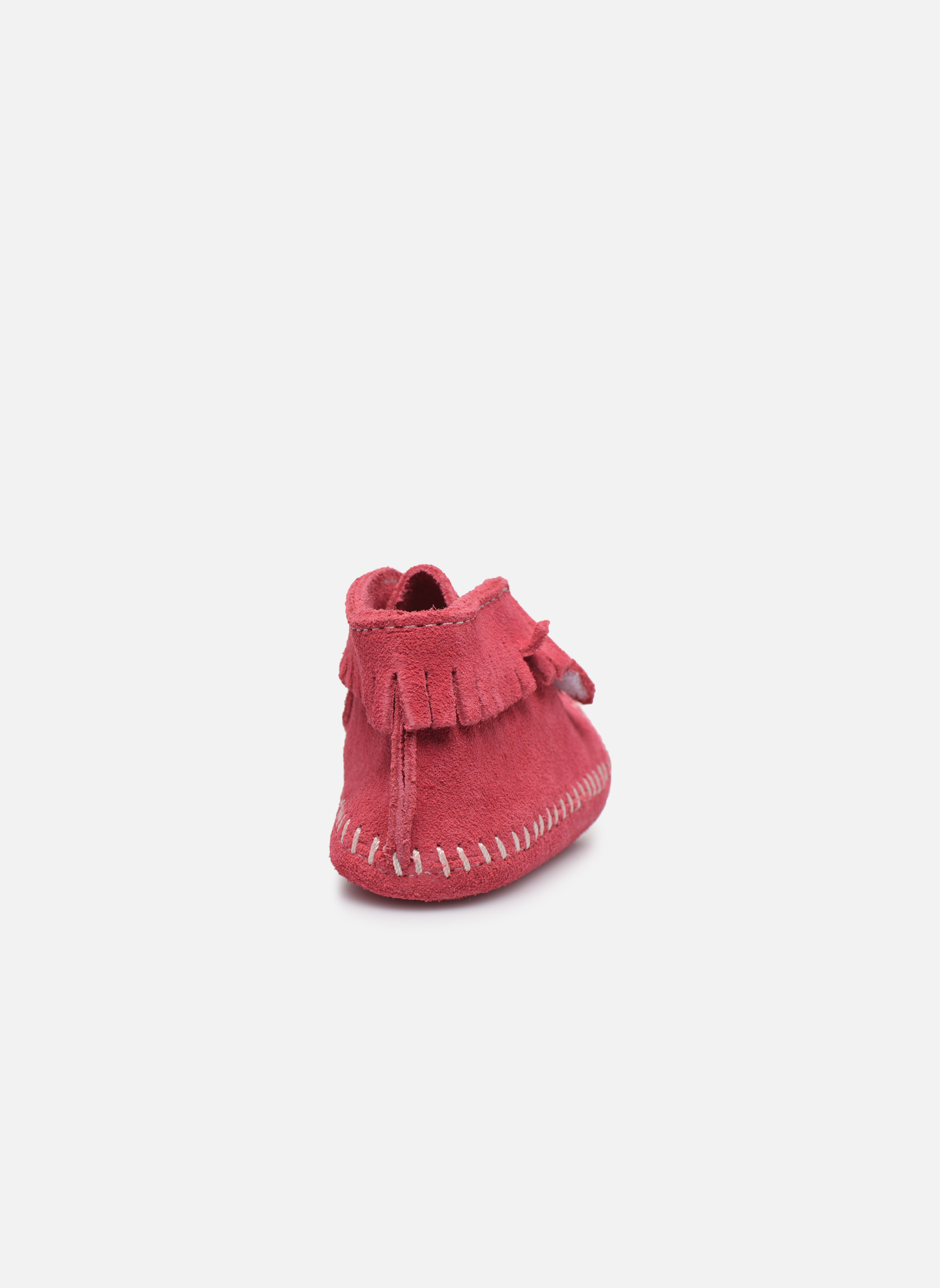 Front Strap Bootie Hot Pink Suede