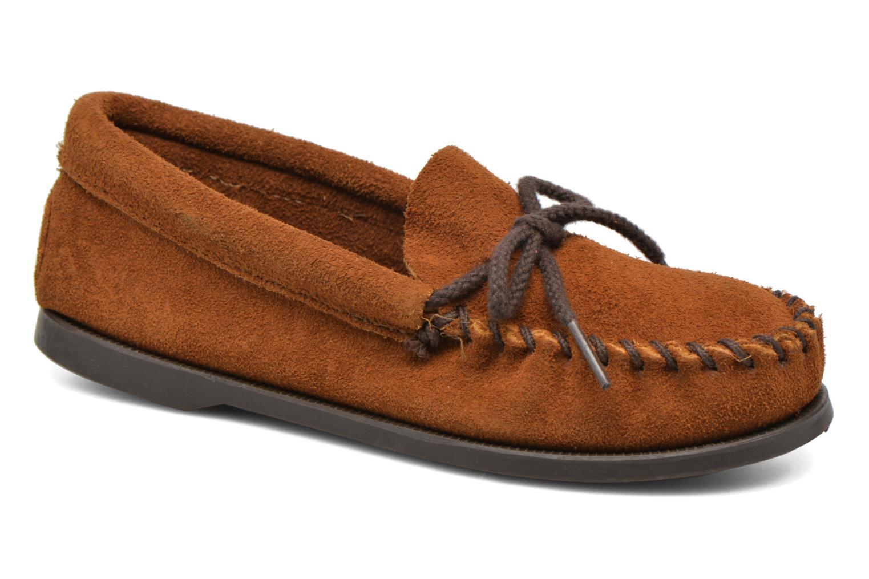 Slipper Minnetonka Unbeaded Classic Moc braun detaillierte ansicht/modell