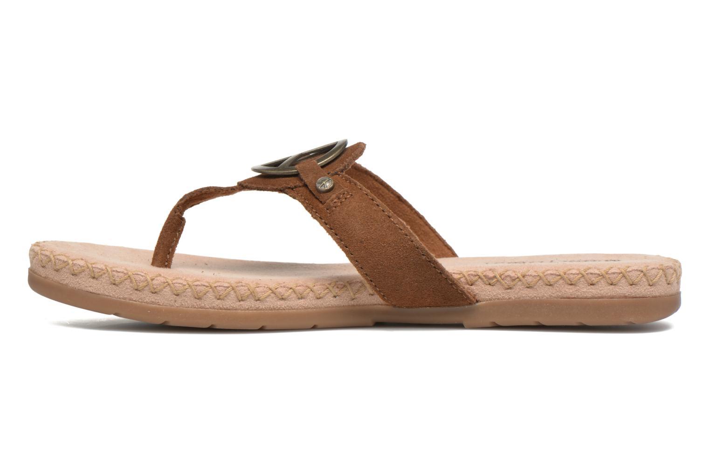 Sandales et nu-pieds Minnetonka Thong With Peace Sign Marron vue face