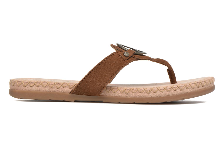 Sandales et nu-pieds Minnetonka Thong With Peace Sign Marron vue derrière