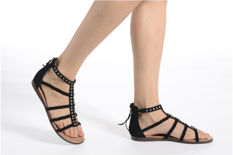 Sandales et nu-pieds Minnetonka Catalina Sandal Noir vue bas / vue portée sac