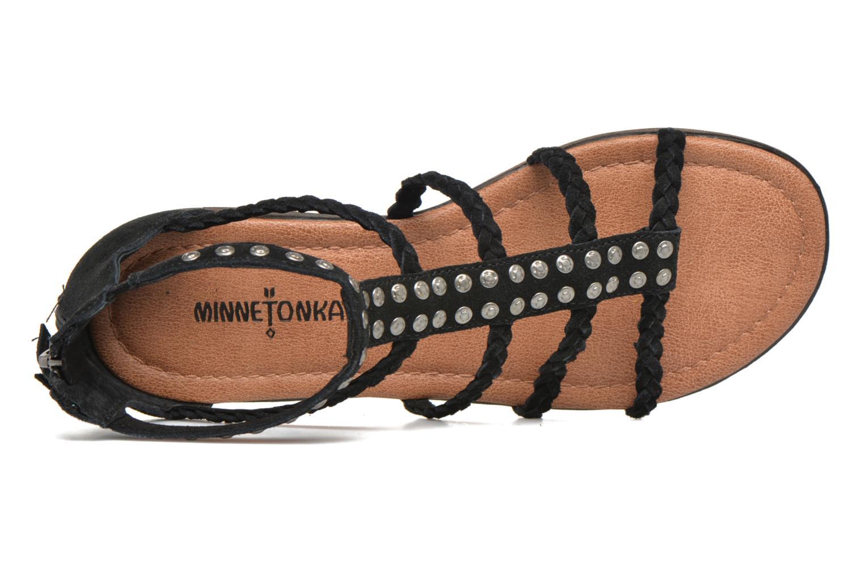 Sandales et nu-pieds Minnetonka Catalina Sandal Noir vue gauche