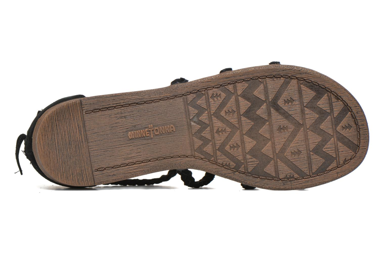 Sandales et nu-pieds Minnetonka Catalina Sandal Noir vue haut