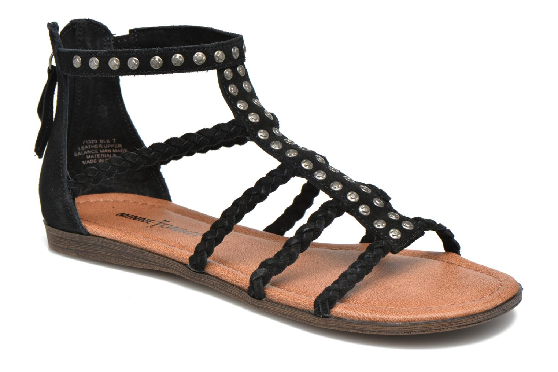 Sandales et nu-pieds Minnetonka Catalina Sandal Noir vue détail/paire