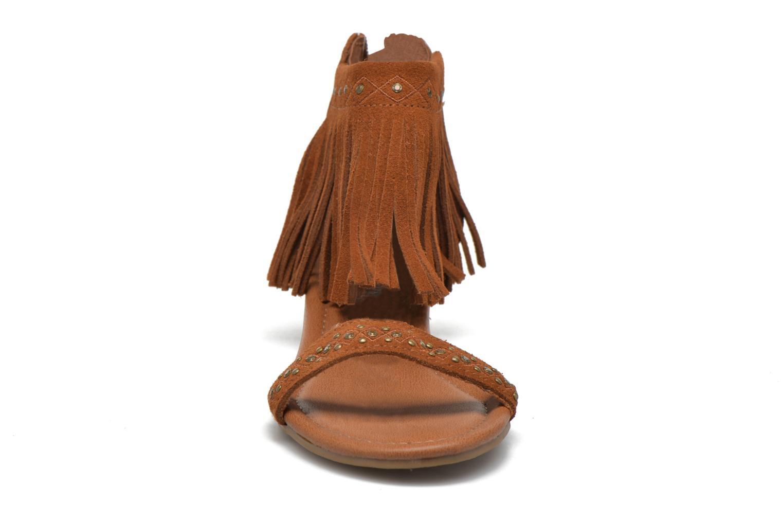 Savona Low Wedge Brown Suede