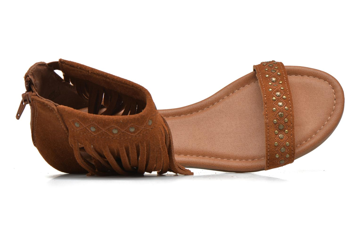 Savona Low Wedge Brown Suede