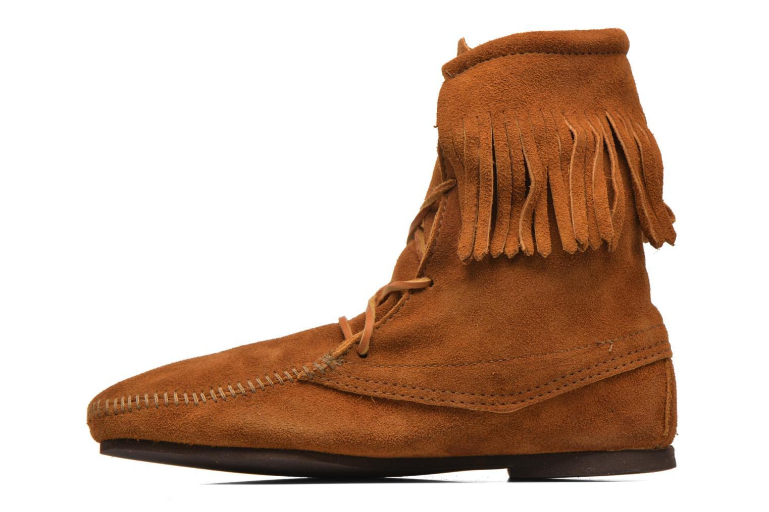 Ankle boots Minnetonka Tramper Bt H Brown front view