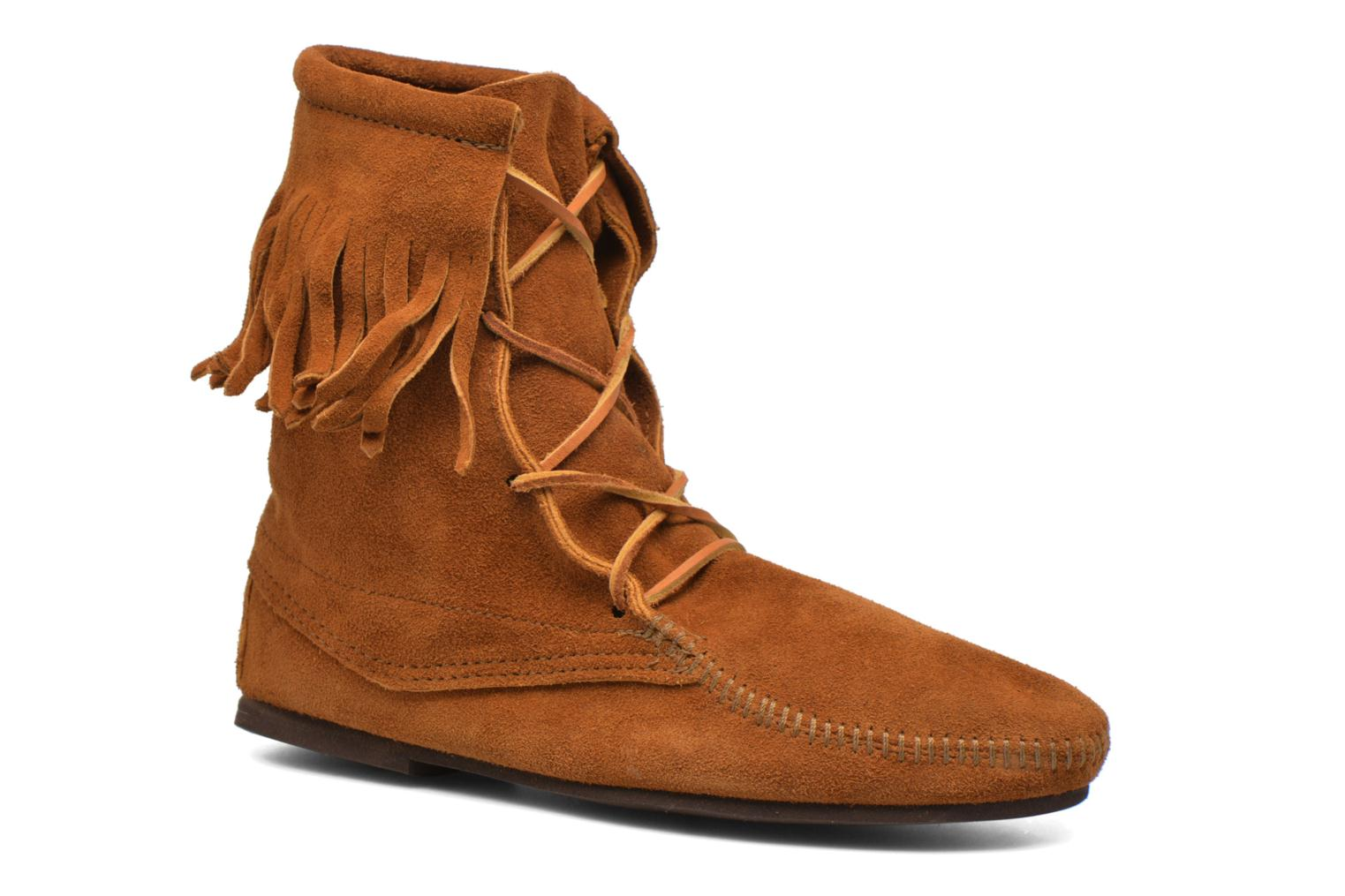 Ankle boots Minnetonka Tramper Bt H Brown detailed view/ Pair view