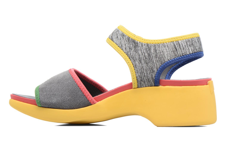 Sandales et nu-pieds Camper Spark K200454 Gris vue face