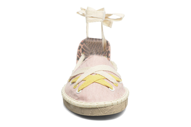 Espadrilles Coolway Guajira Rose vue portées chaussures