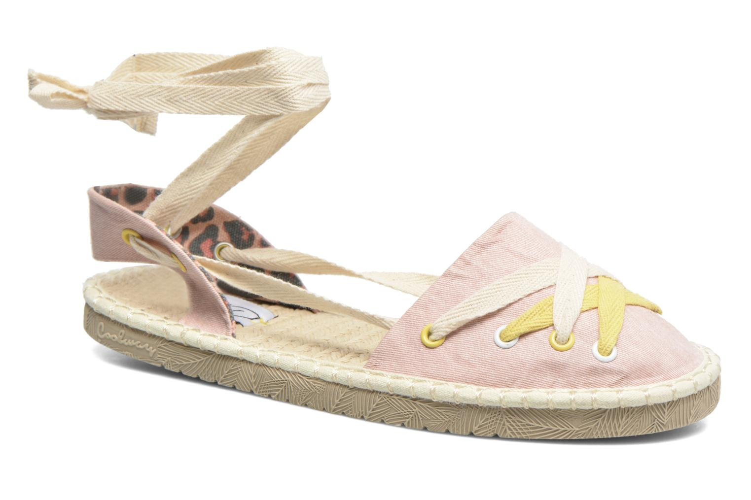 Espadrilles Coolway Guajira Pink detailed view/ Pair view