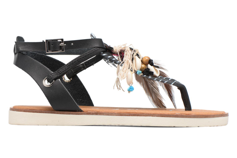 Sandales et nu-pieds Coolway Honololu Noir vue derrière