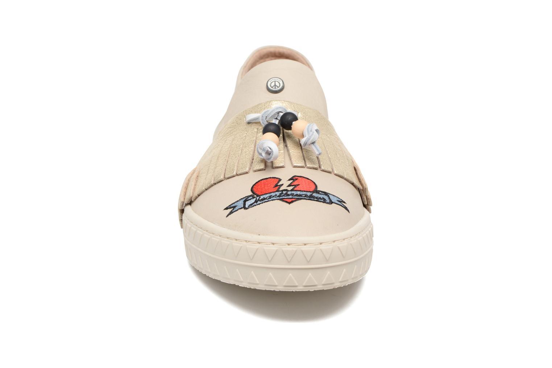 Baskets Dolfie Noa Or et bronze vue portées chaussures