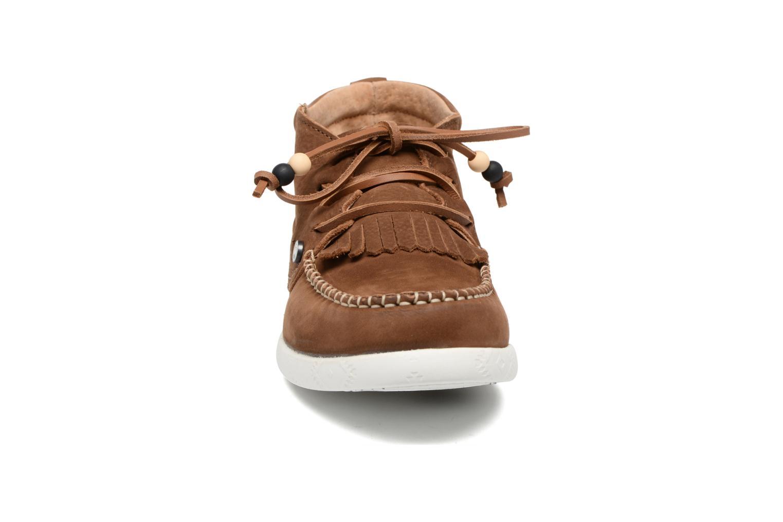 Baskets Dolfie Landom Hi Marron vue portées chaussures