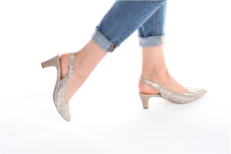Zapatos de tacón Gabor Napa Plateado vista de abajo