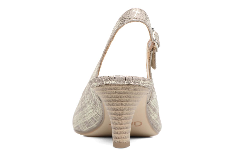 Zapatos de tacón Gabor Napa Plateado vista lateral derecha
