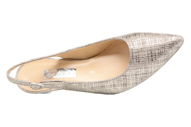 Zapatos de tacón Gabor Napa Plateado vista lateral izquierda