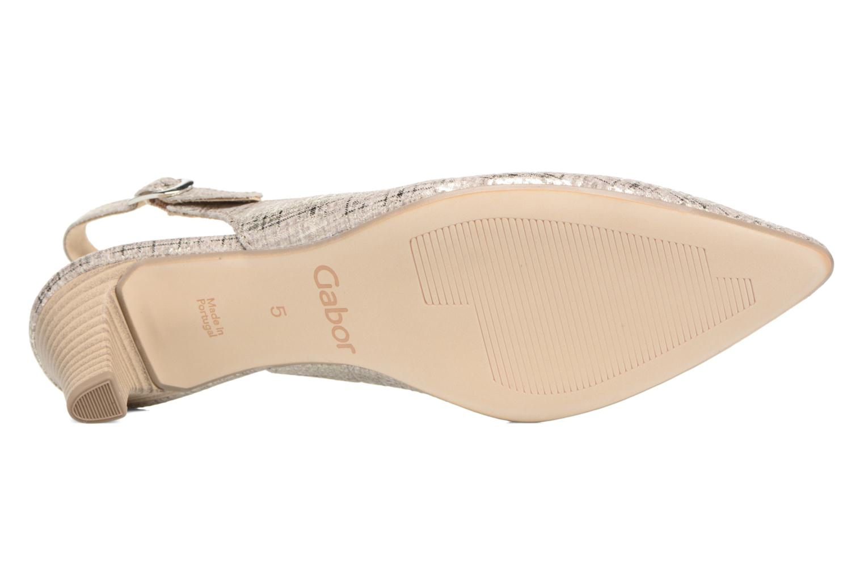 Zapatos de tacón Gabor Napa Plateado vista de arriba