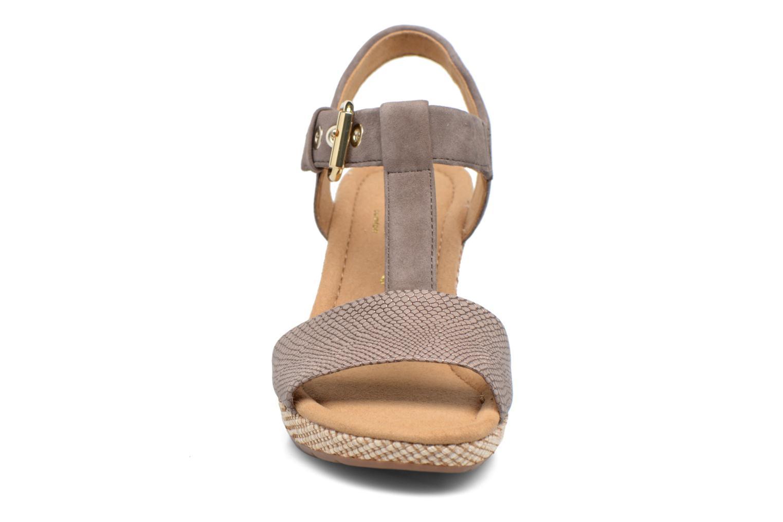 Sandales et nu-pieds Gabor Milano 4 Gris vue portées chaussures