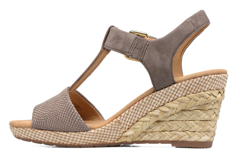 Sandales et nu-pieds Gabor Milano 4 Gris vue face