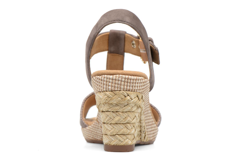 Sandales et nu-pieds Gabor Milano 4 Gris vue droite
