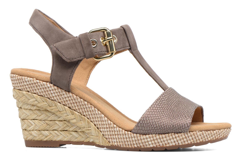 Sandales et nu-pieds Gabor Milano 4 Gris vue derrière