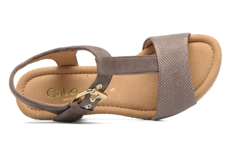 Sandales et nu-pieds Gabor Milano 4 Gris vue gauche