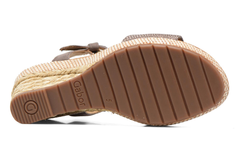 Sandales et nu-pieds Gabor Milano 4 Gris vue haut